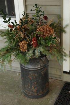 birch log christmas arrangements - Google Search