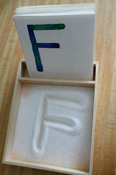 DIY Salt Tray With Alphabet Cards