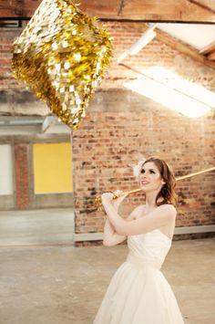 Glittery wedding piñata, stunning and fun! Deer Wedding, Glitter Wedding, Wedding Shoot, 1920s Wedding, Wedding Gold, Magical Wedding, Wedding Pinata, Wedding Games, Wedding Activities