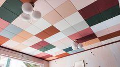 Dumbfounding Useful Tips: False Ceiling Design Luxury false ceiling beams home.False Ceiling Beams Home false ceiling bathroom decor. Ceiling Tiles Painted, Drop Ceiling Tiles, Dropped Ceiling, Ceiling Beams, Ceiling Lights, Ceilings, Ceiling Plan, Paint Ceiling, Drop Ceiling Lighting