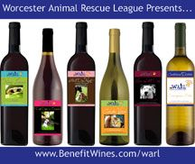 Buy wine and support the mutts and meows at the Worcester Animal Rescue League....win/win!!  http://www.worcester-arl.org/