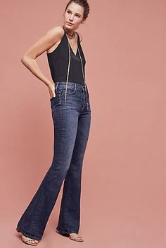 Mother Pixie Cruiser Mid-Rise Flare Jeans