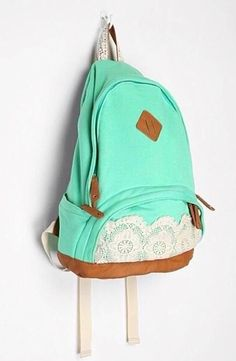 Mint green backpack. Absolutely love!