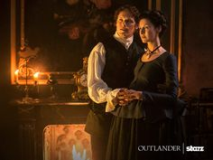 Here's a new still of Sam Heughan and Caitriona Balfe as Jamie and Claire Fraser Source