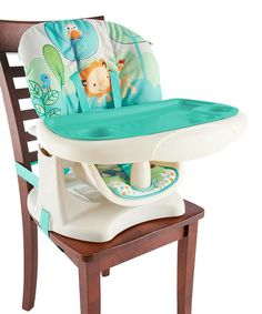 Another great find on #zulily! Aqua Playful Pals Chair Top High Chair by Bright Starts #zulilyfinds