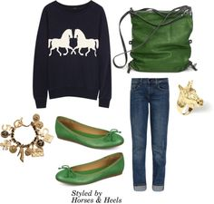 Green inspired clothing, outfits & accessories | Horses & Heels