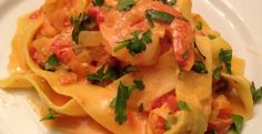 VALENTINES DAY DINNER—SAFFRON SHRIMP PASTA