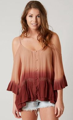 d384ae5f1432ed Gimmicks Cold Shoulder Top - Women s Shirts Blouses in Mauve Wine