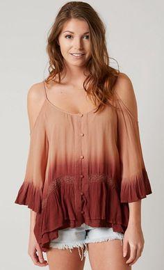 4c99a5919c1872 Gimmicks Cold Shoulder Top - Women s Shirts Blouses in Mauve Wine