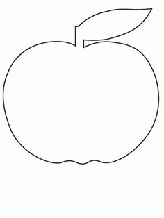 Apple2 Simple-shapes Coloring Pages