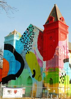 An abandoned church in Washington D.C. transformed into a work of art by Alex Brewer. #ModernArt #WashingtonDC
