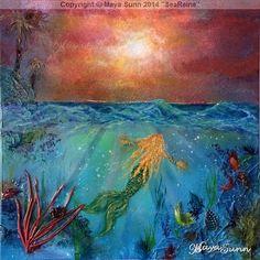 """"""" SeaReine """" ( MerMaid ) - MayaSunn Mermaid, Painting, Art, Art Background, Painting Art, Kunst, Paintings, Performing Arts, Painted Canvas"""