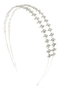 This crystal headband would be a lovely piece for a wedding day collection.