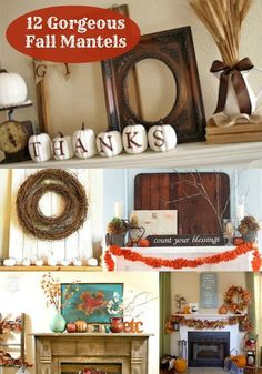 12 Beautiful U0026 Inspiring Fall Mantels For Your Home