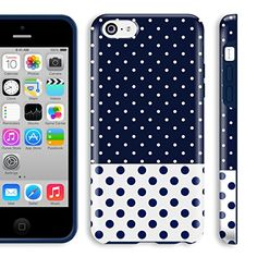 Akna Glamour Series Flexible Transparent TPU Snap On Soft Clear High Impact Back Case for iPhone 5C [Royal Polka Dots] Akna http://www.amazon.com/dp/B00LMRF5IW/ref=cm_sw_r_pi_dp_ILNcub19W31X7