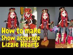 How to make show accurate Lizzie Hearts Ever After High - YouTube