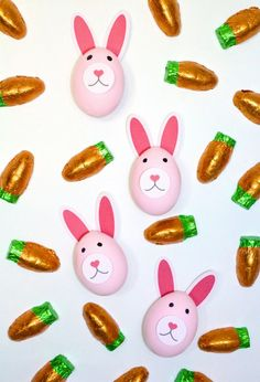 Easy DIY Pink Easter Bunny Eggs! ⋆ Brite and Bubbly