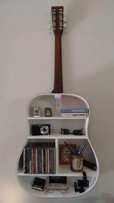 violão folk estante prateleira útil decorativo