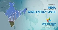 Wind energy has been the fastest growing renewable energy sector in India. #Windergy2017 #Wind4All #RenewableEnergy #Here2Stay #WindPowerForever