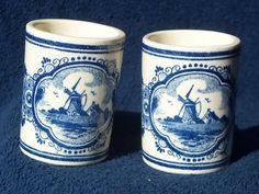 Hand Painted Delft Blauw Toothpick Holders from Holland | eBay