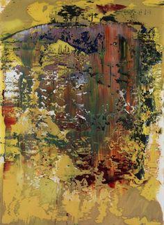 Gerhard Richter Oil on Paper Untitled (1.5.1989)