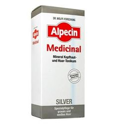 Alpecin Medicinal Silver is a hair tonic especially for white and gray hair. It preserves and promotes the natural gray and silver tones of the hair and gives t