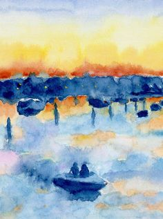 Harbour Light 1 by Ilse Bernthal £30  Yarmouth, Isle of Wight, England