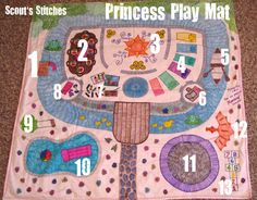 Princess Play Mat...I'm SOOOO doing this for my baby girl!
