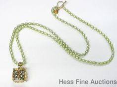 New Sevan Gold on Sterling Silver Vermeil Garnet Treasure Chest Pearl Necklace #SevanBicakci #PendantwPearls