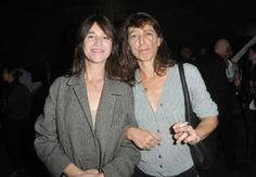Charlotte Gainsbourg and Kate Barry in 2013 #charlottegainsbourg #katebarry