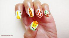 Giraffe Nail Design : #NailDesignAdda