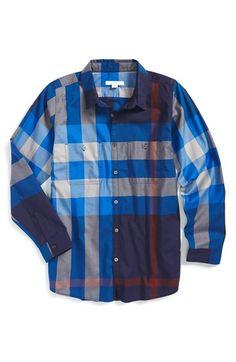 Burberry 'Mini Camber' Check Woven Shirt (Little Boys & Big Boys)