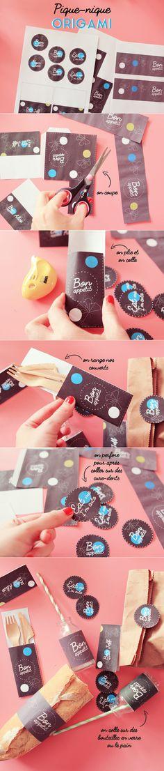 DIY : pique-nique origami et champêtre – Poulette Magique