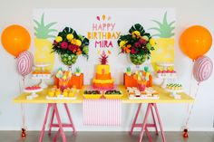 Fabulous bright birthday party: http://www.stylemepretty.com/living/2015/01/22/tutti-frutti-kids-birthday-party/ | Photography: Redmoose - http://www.redmoose.com.au/