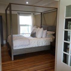 Gray Marlon Queen Canopy Bed