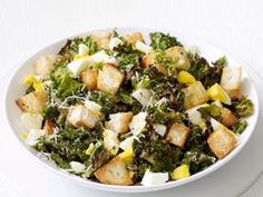 Kale Ceasar salad.... I left out the anchovies