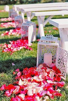 18 Beautiful Wedding Aisle Decoration Ideas ❤ See more: http://www.weddingforward.com/wedding-aisle-decoration-ideas/ #weddings #aisledecoration