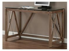 Computer Desk writing Modern home office Computer wood executive contemporary