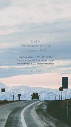 ideas quotes lyrics nct for 2019 K Pop, Lyrics Tumblr, Frases Tumblr, Korean Phrases, Korean Words, Korean Text, Song Lyrics Wallpaper, Wallpaper Quotes, New Quotes