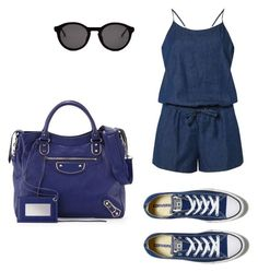 """Untitled #413"" by anamlopes on Polyvore featuring Dorothy Perkins, Converse, Balenciaga and Thierry Lasry"