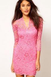 2014 Attractive Women Dress Crocheted Sheath Dress 4 Colors Women s Sexy  Lace V Neck Spring summer Dress - AZBRO.com 70a9c9ca2
