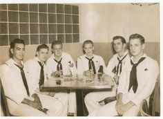 My dad William W. Wallace (third from left) and some navy buddies WWII in Hawaii.
