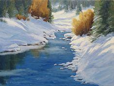 Winters Gold by Rod McAuley Oil ~ 12 x 16