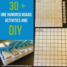 One Hundred Board Activities, DIY Montessori 100 Board, and Common Core Tips – From This To That Early Learning Montessori Materials, Montessori Activities, Kindergarten Activities, Toddler Activities, Elementary Science, Elementary Education, Math Education, Early Education, Math Graphic Organizers