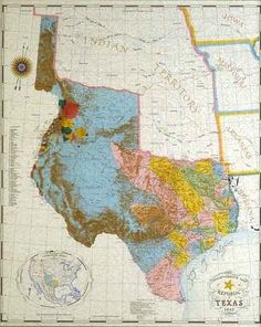 Republic of Texas map 1845 Texas Maps, State Of Texas Map, Denton Texas, Only In Texas, Republic Of Texas, Texas Forever, Loving Texas, Texas Pride, Lone Star State
