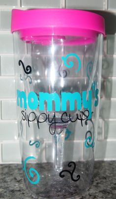 Vino2go Wine Tumbler Personalized/ Mommy's Sippy by OggieOnline, $15.00