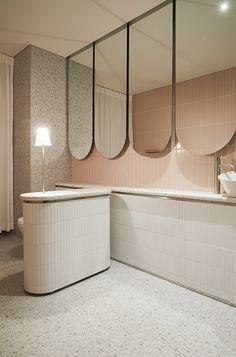 Home Decorators Collection Flooring Restroom Design, Bathroom Interior Design, Interior Decorating, Bathroom Inspiration, Interior Design Inspiration, Wc Public, Wall Design, House Design, Neoclassical Interior