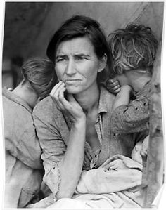 Florence Owens Thompson - Migrant Mother, taken by Dorothea Lange in 1936 Born Florence Leona Christie September 1903 Tahlequah, Indian Territory, U.