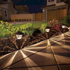 Garden lighting tips, driveway lighting, lighting ideas, backyard lighting,