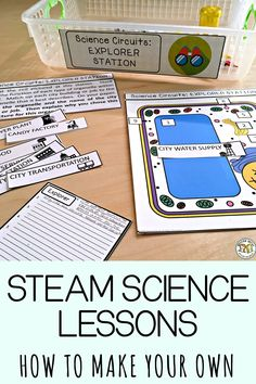How to Create your own Cross-Curricular Science STEAM Lab Stations that are Student-led and easy to implement - Education and lifestyle Biology Lessons, Science Lessons, Life Science, Science Room, Science Labs, Ap Biology, Science Biology, Science Fun, Science Ideas